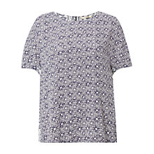 Buy White Stuff Poetry Patch Top, Ink Pot Blue Online at johnlewis.com