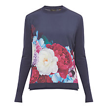 Buy Ted Baker Islii Blushing Bouquet Woven Panel Jumper Online at johnlewis.com