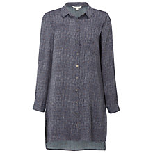 Buy White Stuff Long Sleeve Woven Tunic Top, Mineral Grey Online at johnlewis.com