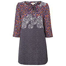 Buy White Stuff Primrose Tunic Top, Mineral Grey Online at johnlewis.com