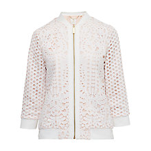 Buy Ted Baker Hillan Lace Bomber Jacket Online at johnlewis.com