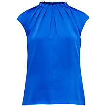 Buy Ted Baker Reela High Fold Neck Top, Bright Blue Online at johnlewis.com