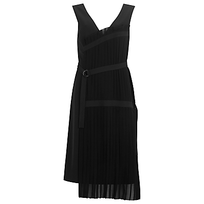 Finery Alperton Pleated Panel Dress, Black
