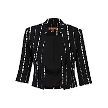 Buy Jolie Moi Geo Print Open Front Blazer, Black Online at johnlewis.com
