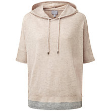 Buy Pure Collection Kylie Hooded Poncho, Marble/Heather Grey Online at johnlewis.com