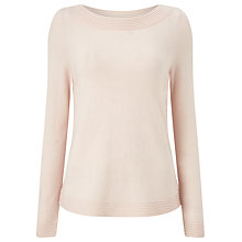 Buy Precis Petite Bella Curved Hem Jumper, Blush Online at johnlewis.com