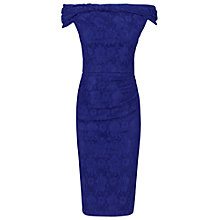 Buy Jolie Moi Bardot Neck Dress, Royal Blue Online at johnlewis.com