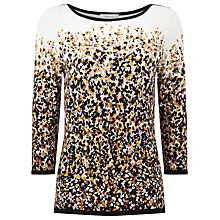 Buy Precis Petite Laura Petal Print Jumper, Multi/Cream Online at johnlewis.com
