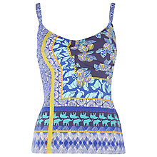 Buy White Stuff Coral Bay Tankini Top, Bright Sky Online at johnlewis.com