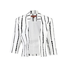Buy Jolie Moi Geo Printed Open Front Blazer, Ivory Online at johnlewis.com