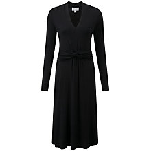 Buy Pure Collection Katie Gathered Dress, Black Online at johnlewis.com
