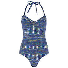 Buy White Stuff Bocachica Halter Swimsuit, Ocean Blue Online at johnlewis.com