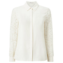 Buy Precis Petite Nalia Lace Sleeve Blouse, Ivory Online at johnlewis.com