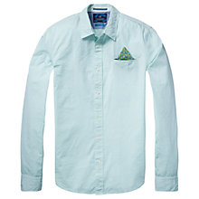 Buy Scotch & Soda Long Sleeve Fixed Pochet Shirt, Green Online at johnlewis.com