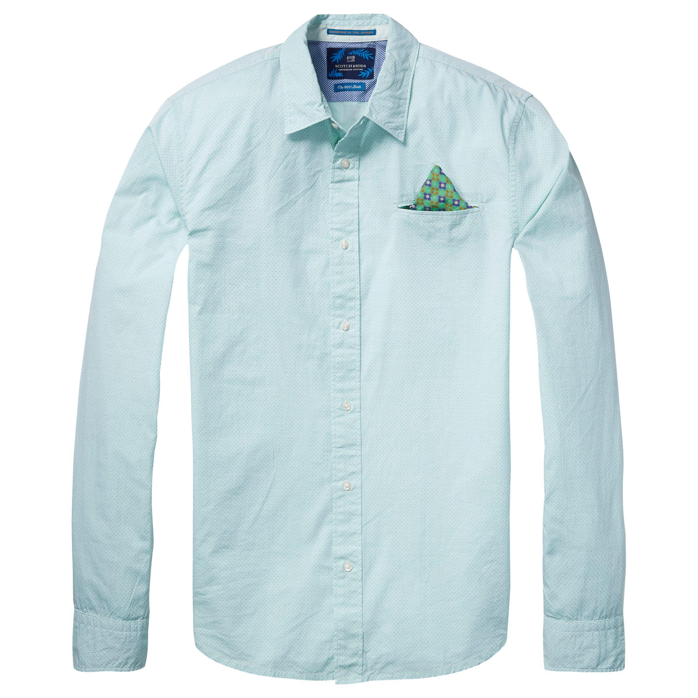 Scotch & Soda Scotch & Soda Long Sleeve Fixed Pochet Shirt, Green