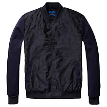 Buy Scotch & Soda Nylon Jacquard Varsity Jacket, Navy Online at johnlewis.com