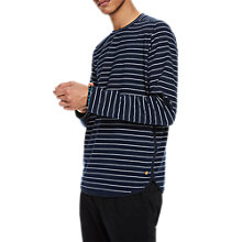 Buy Scotch & Soda Stripe Long Sleeve T-Shirt, Navy Online at johnlewis.com