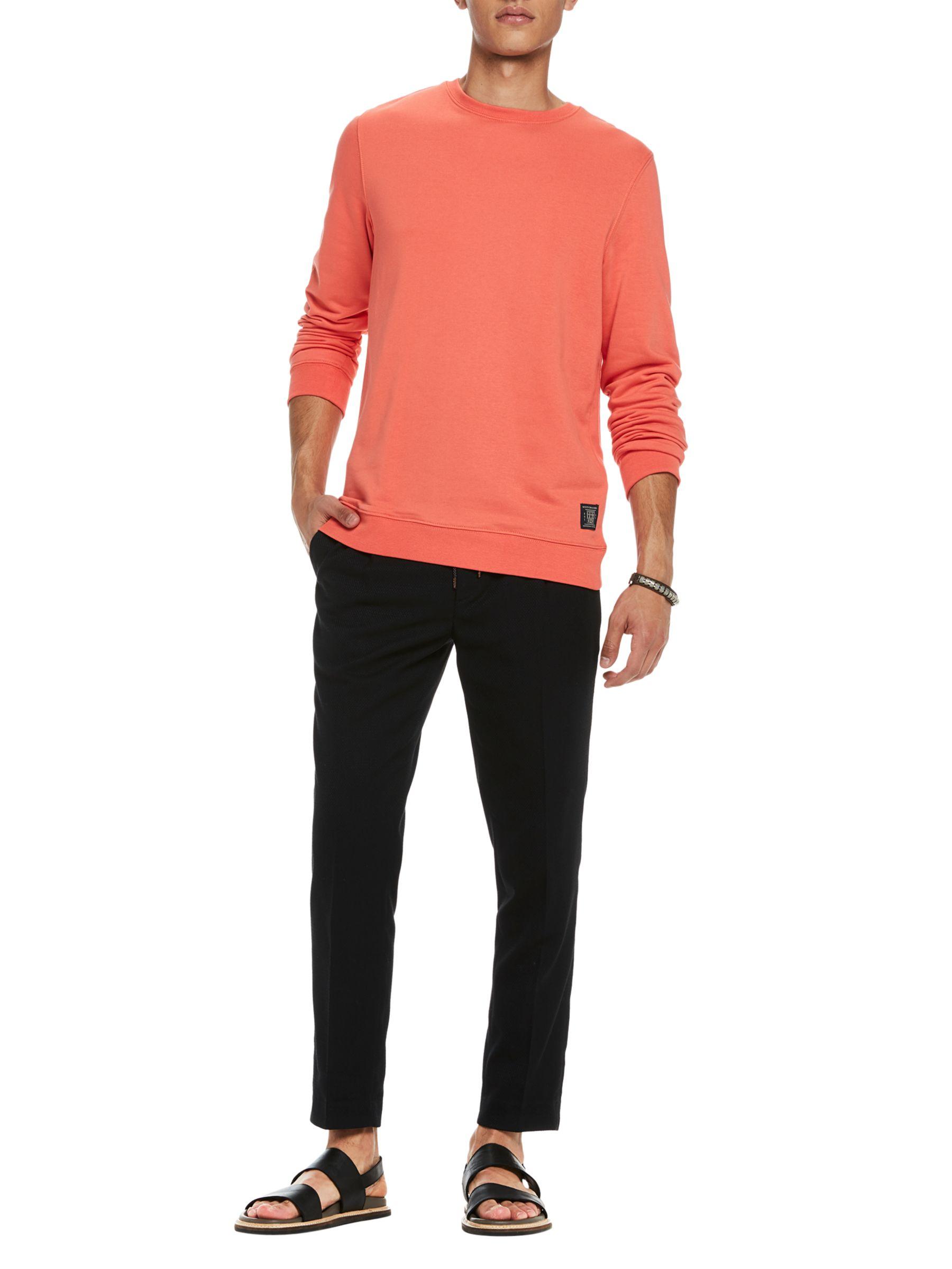 Scotch & Soda Scotch & Soda Crew Neck Sweatshirt, Tangerine