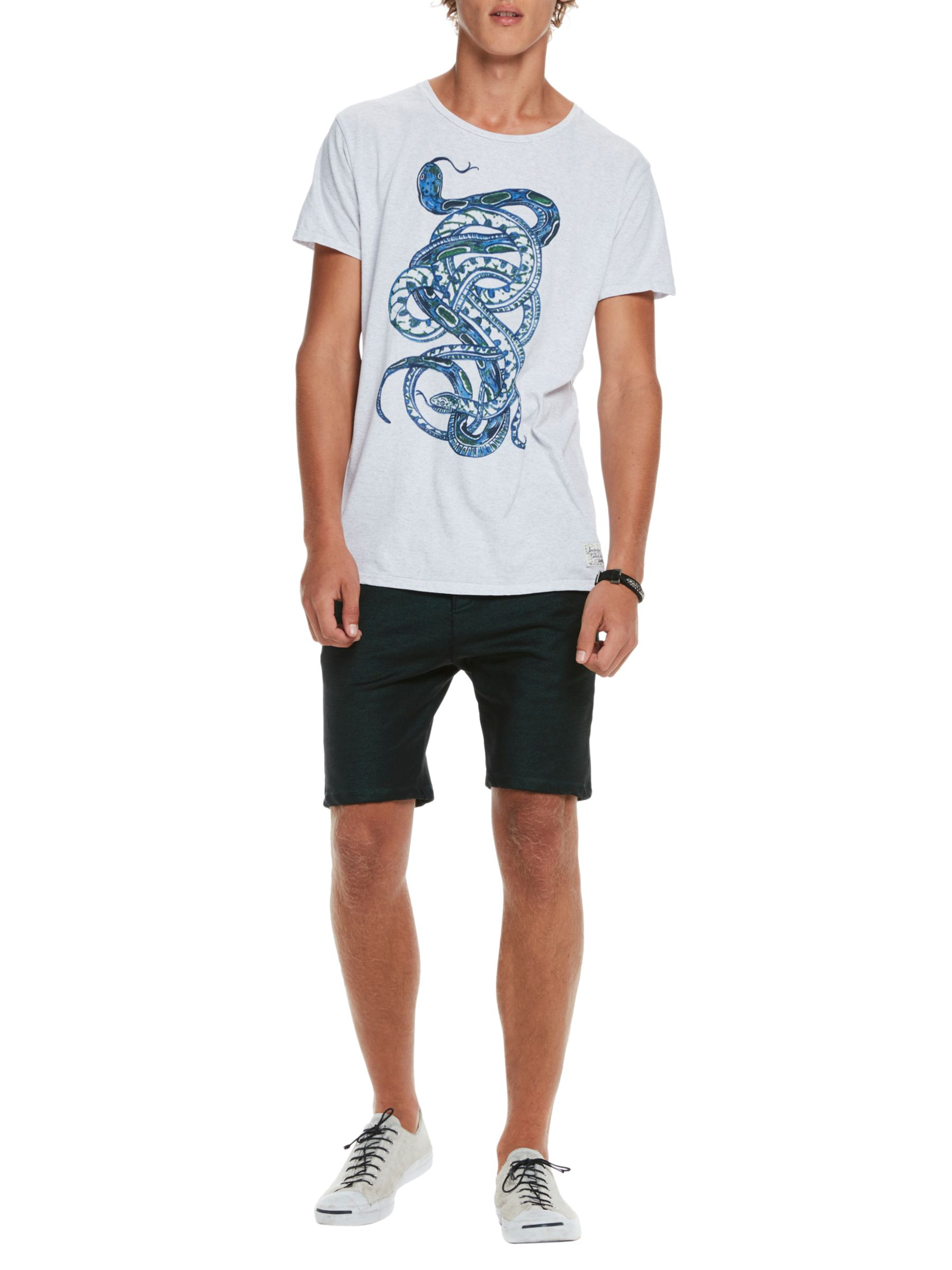 Scotch & Soda Scotch & Soda Snake Print T-Shirt, White