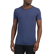 Buy Scotch & Soda Printed T-Shirt, Blue Online at johnlewis.com
