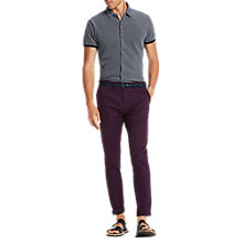 Buy Scotch & Soda Micro Check Short Sleeve Pique Shirt, Combo A Navy Online at johnlewis.com