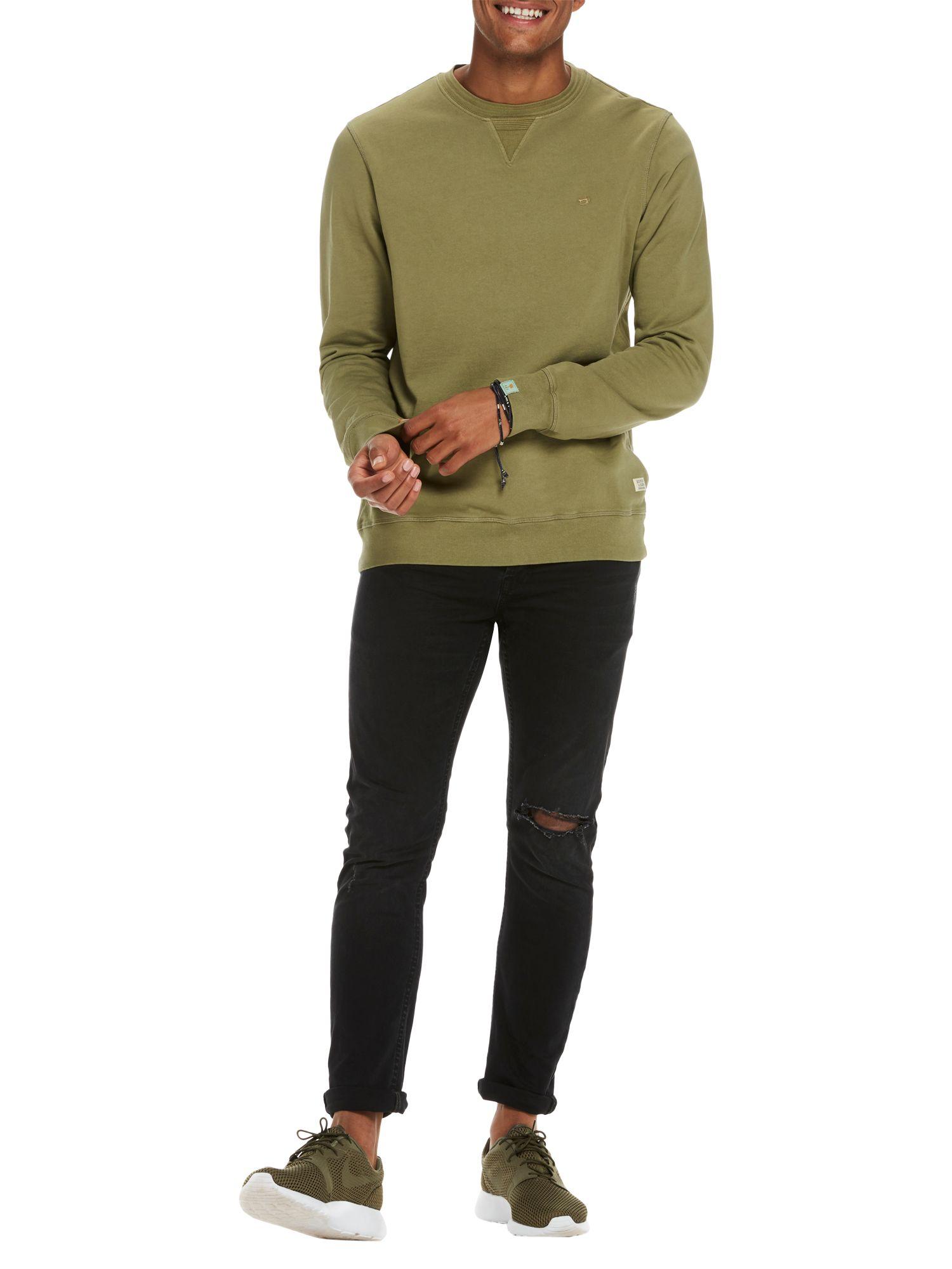 Scotch & Soda Scotch & Soda Garment-Dyed Sweatshirt, Military