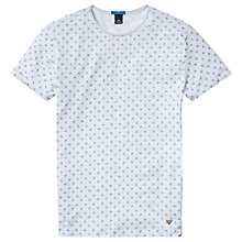 Buy Scotch & Soda Leaf Print T-Shirt, Blue Online at johnlewis.com