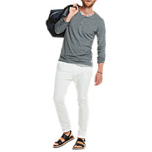 Buy Scotch & Soda Faux Double Layer Henley T-Shirt, Graphite Melange Online at johnlewis.com
