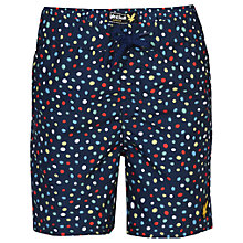 Buy Lyle & Scott Boys' Dots Print Swim Shorts, Indigo/Multi Online at johnlewis.com