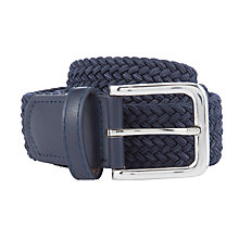 Buy John Lewis Children's Woven Belt, Navy Online at johnlewis.com