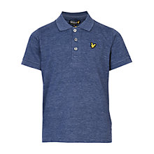 Buy Lyle & Scott Boys' Classic Polo Shirt, Navy Marl Online at johnlewis.com