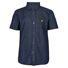 Buy Lyle & Scott Boys' Denim Shirt, Light Indigo Online at johnlewis.com