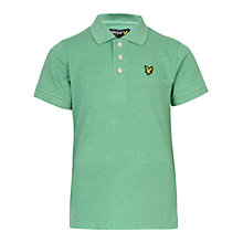 Buy Lyle & Scott Boys' Classic Polo Shirt, Green Marl Online at johnlewis.com