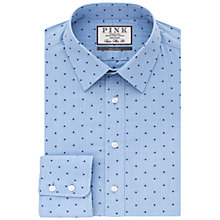 Buy Thomas Pink Tomlin Texture Super Slim Fit Shirt, Blue/Navy Online at johnlewis.com
