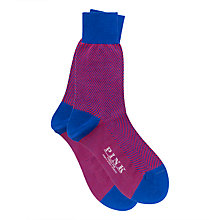 Buy Thomas Pink Pieter Herringbone Socks Online at johnlewis.com