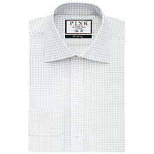 Buy Thomas Pink Joaquin Check Slim Fit XL Sleeve Shirt, White/Navy Online at johnlewis.com