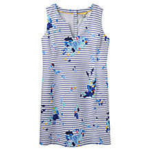 Buy Joules Elayna Printed Dress, Blue Floral Stripe Online at johnlewis.com