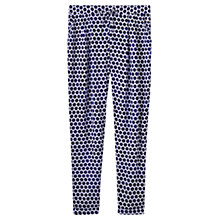 Buy Joules Anice Printed Trousers, Blue Spot Online at johnlewis.com