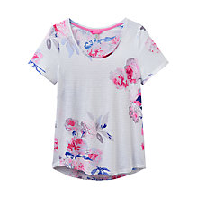 Buy Joules Daily Printed T-Shirt, White Bloom Stripe Online at johnlewis.com