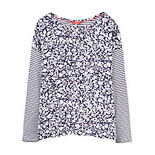Buy Joules Bee Drop Shoulder Top, Blue Floral Stripe Online at johnlewis.com