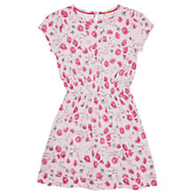 Buy Jigsaw Girls' Dandelion Print Jersey Dress, Pink Online at johnlewis.com