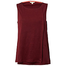 Buy White Stuff Wrap Around Jersey Vest, Desert Red Online at johnlewis.com