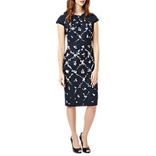 Buy Phase Eight Dionne Print Dress, Navy Online at johnlewis.com