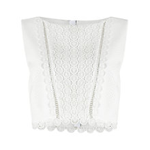 Buy Precis Petite Ellen Broidery Top, Ivory Online at johnlewis.com
