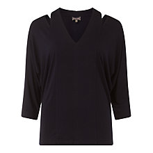 Buy Phase Eight Sade Slash Neck Top, Navy Online at johnlewis.com