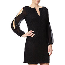Buy Adrianna Papell Plus Size Cold Shoulder Sleeve Shift Dress, Black Online at johnlewis.com