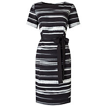 Buy Jacques Vert Textured Stripe Dress, Black Online at johnlewis.com