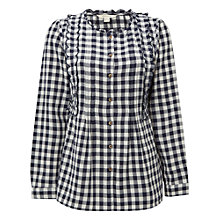Buy White Stuff Gingham Moonlight Top, Navy Online at johnlewis.com
