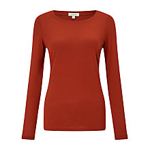 Buy Jigsaw Pima Cotton Long Sleeve T-Shirt Online at johnlewis.com