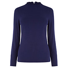 Buy Oasis Polo Top, Mid Blue Online at johnlewis.com